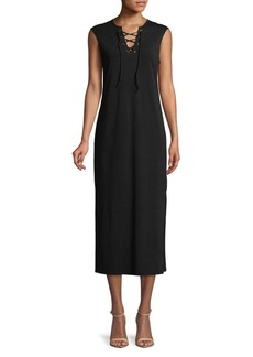 C & C California C&C California Lace-Up Sleeveless Midi Dress