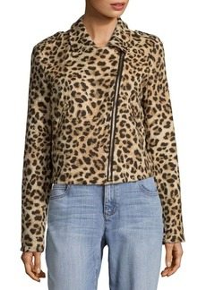 C&C California Leopard Print Moto Jacket