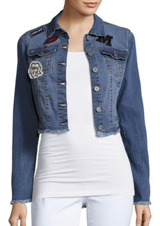 C&C California Long-Sleeve Cropped Denim Jacket