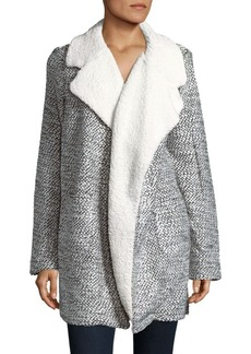 C&C California Relaxed Faux Fur-Trimmed Coat
