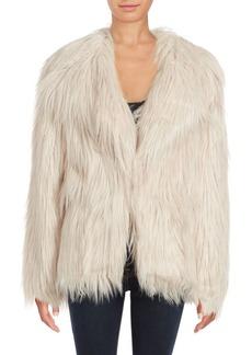 C&C California Solid Faux Fur Coat