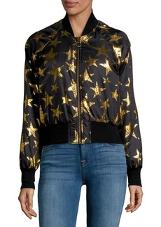 C & C California Star Print Bomber Jacket