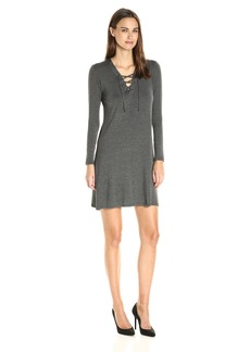 C&C California Women's Lace up Front Shift Dress  S