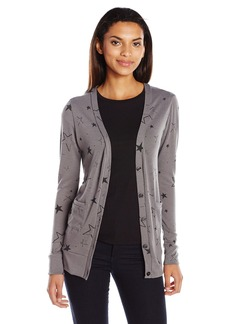 C & C California C&C California Women's Star Print Cardigan Charcoal XS