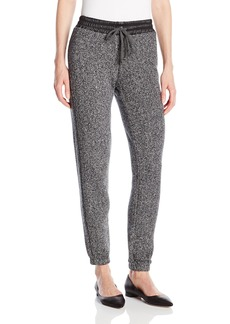 C & C California C&C California Women's Terry Pant with Faux Leather Detail