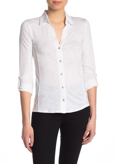 C & C California Contrast Inset Button Down Shirt