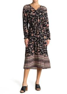 C & C California Eva Tassel Trimmed Split Neck Maxi Dress