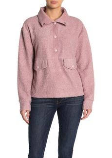 C & C California Faux Fur Pullover Sweater