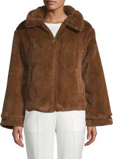 C & C California Faux Fur Zip-Up Jacket
