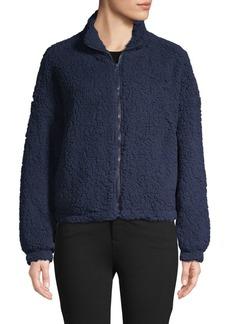 C & C California Faux Shearling Front-Zip Jacket