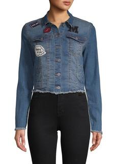 C & C California Frayed Denim Jacket