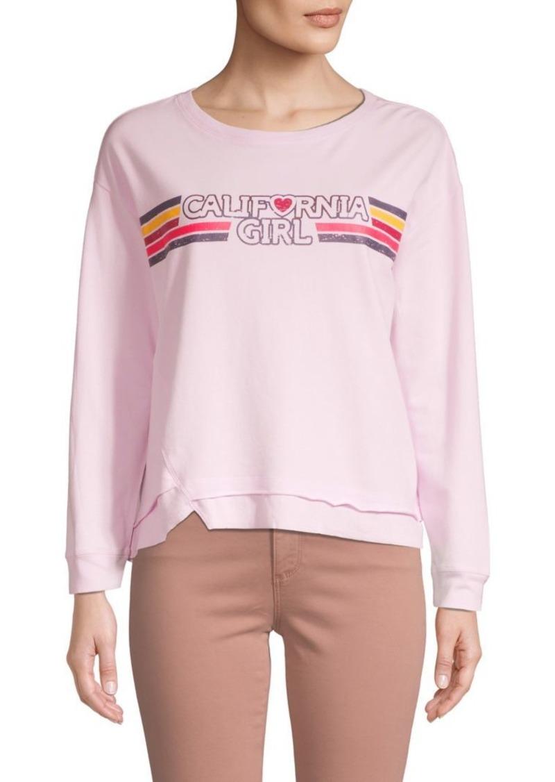 C & C California Graphic Asymmetrical Sweatshirt