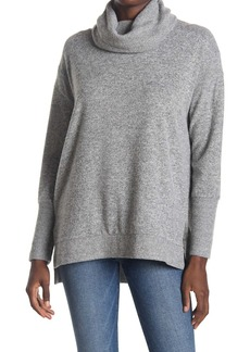 C & C California Hacci Rib Mix Cowl Neck Tunic