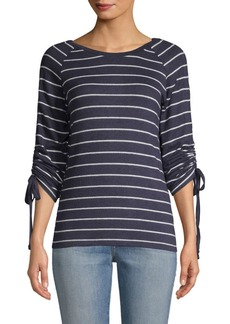 C & C California Hacci Striped Top