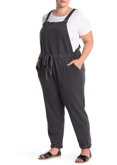 C & C California Heathered French Terry Overalls (Plus Size)