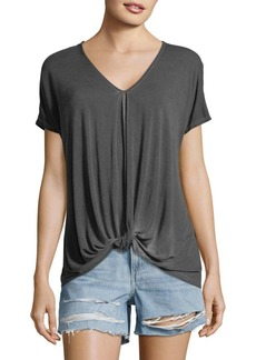C & C California Knotted Short-Sleeve Top