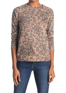 C & C California Lila Printed Terry Pullover Sweater