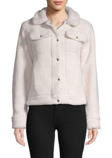 C & C California Long-Sleeve Faux Fur Jacket