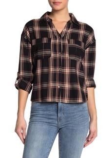 C & C California Plaid Button-Tab Sleeve Shirt