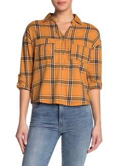 C & C California Plaid Button-Tab Sleeve Shirt