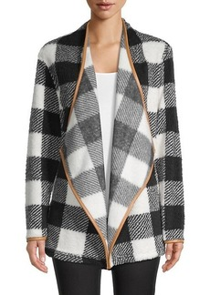 C & C California Plaid Open-Front Blazer