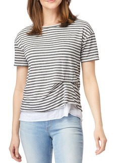 C & C California Riley Salt Wash Double Layer T-Shirt