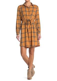 C & C California Sarah Plaid Shirt Dress