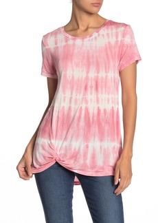 C & C California Shibori Tie-Dye Twist Front T-Shirt