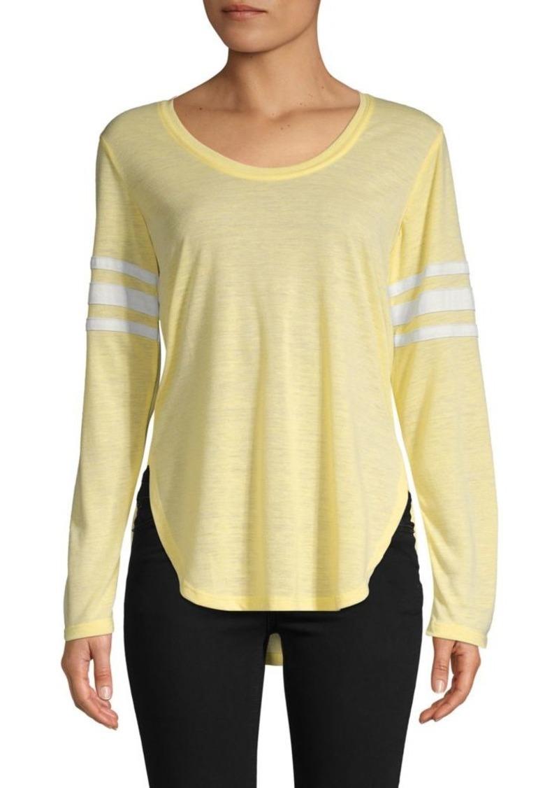 C & C California Shirttail Stripe Detail Tee