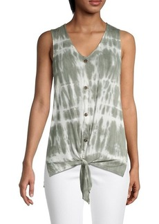 C & C California Tie-Dye Sleeveless Top