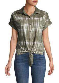 C & C California Tie-Dyed Cotton-Blend Shirt