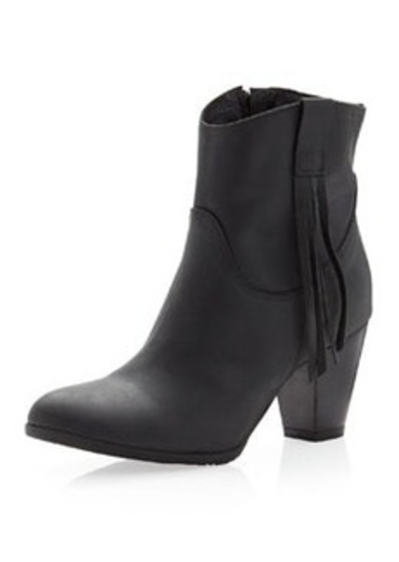 Charles David Fray Tassel Boot, Black
