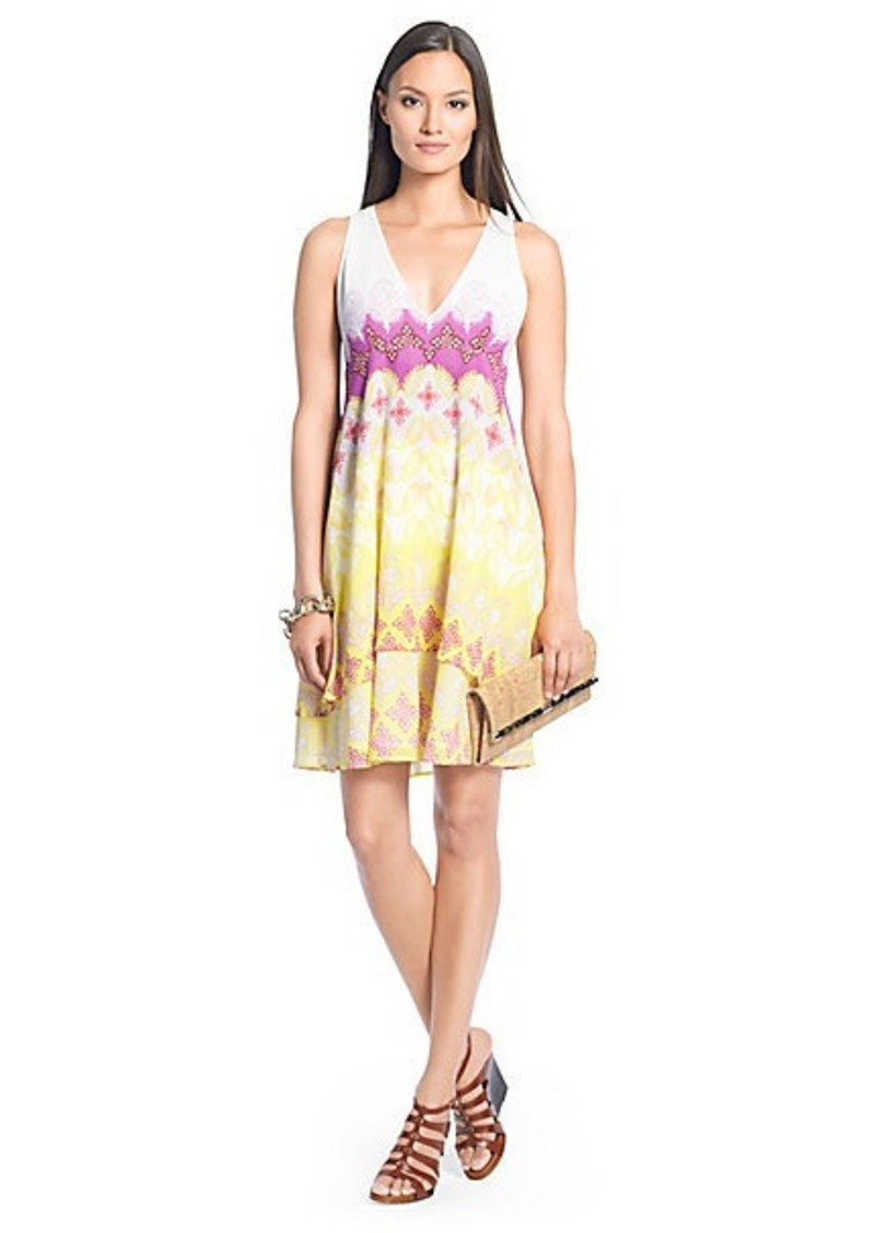 Diane Von Furstenberg Fay Printed Cotton Tier Dress