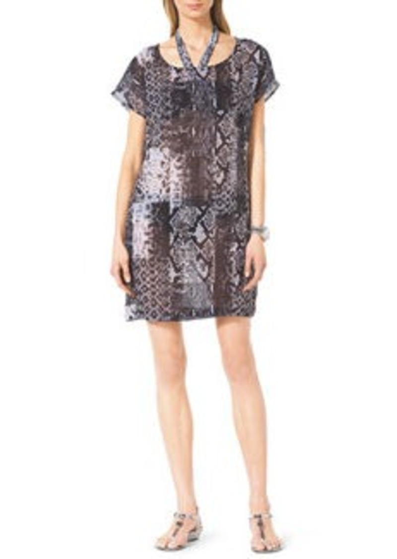 MICHAEL Michael Kors Snake-Print Coverup Dress   Snake-Print Coverup Dress