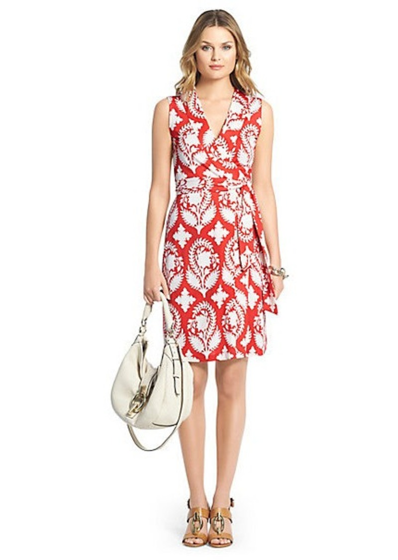 Diane Von Furstenberg New Yahzi Short Silk Jersey Wrap Dress