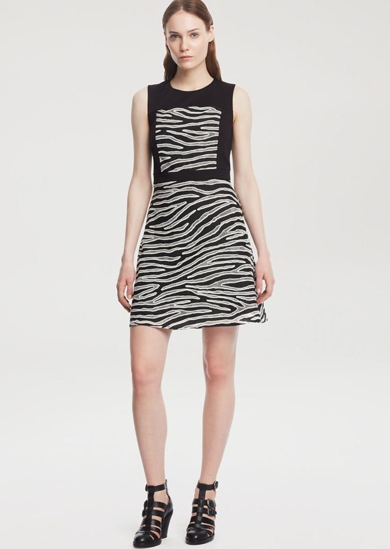 Kenneth Cole New York Dafny Zebra Print Dress