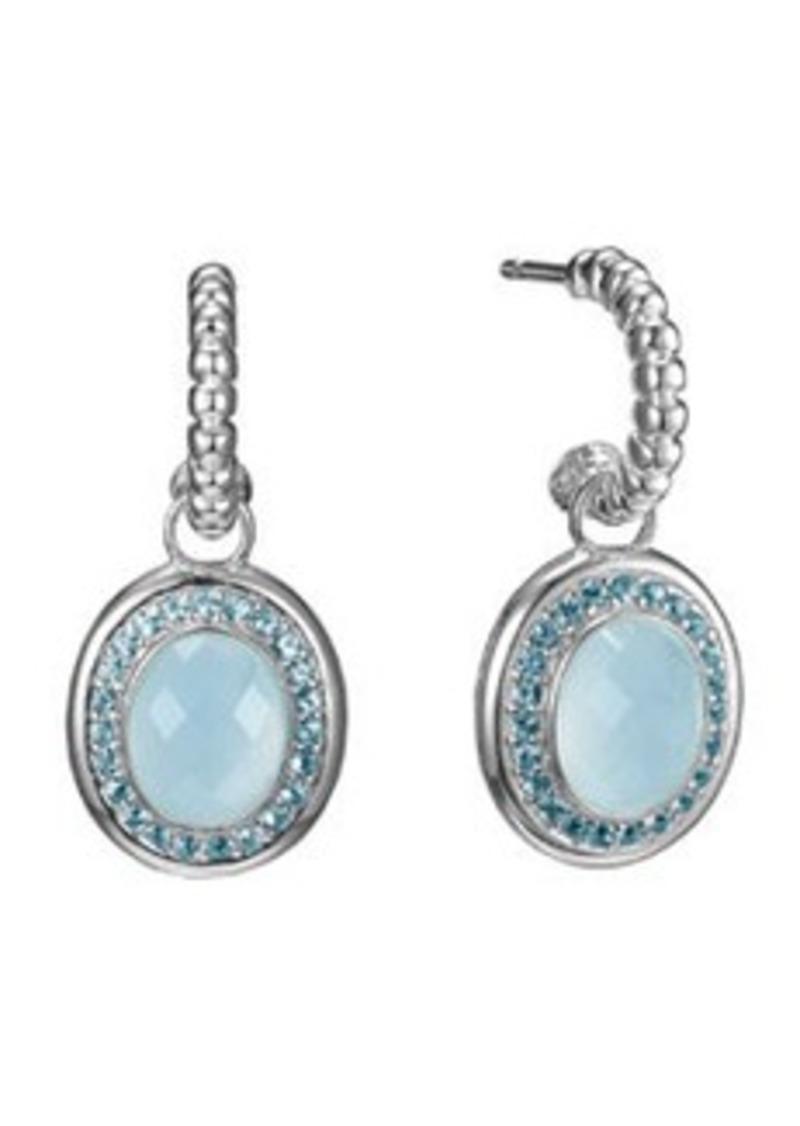 John hardy john hardy bedeg blue topaz hoop drop earrings for John hardy jewelry earrings
