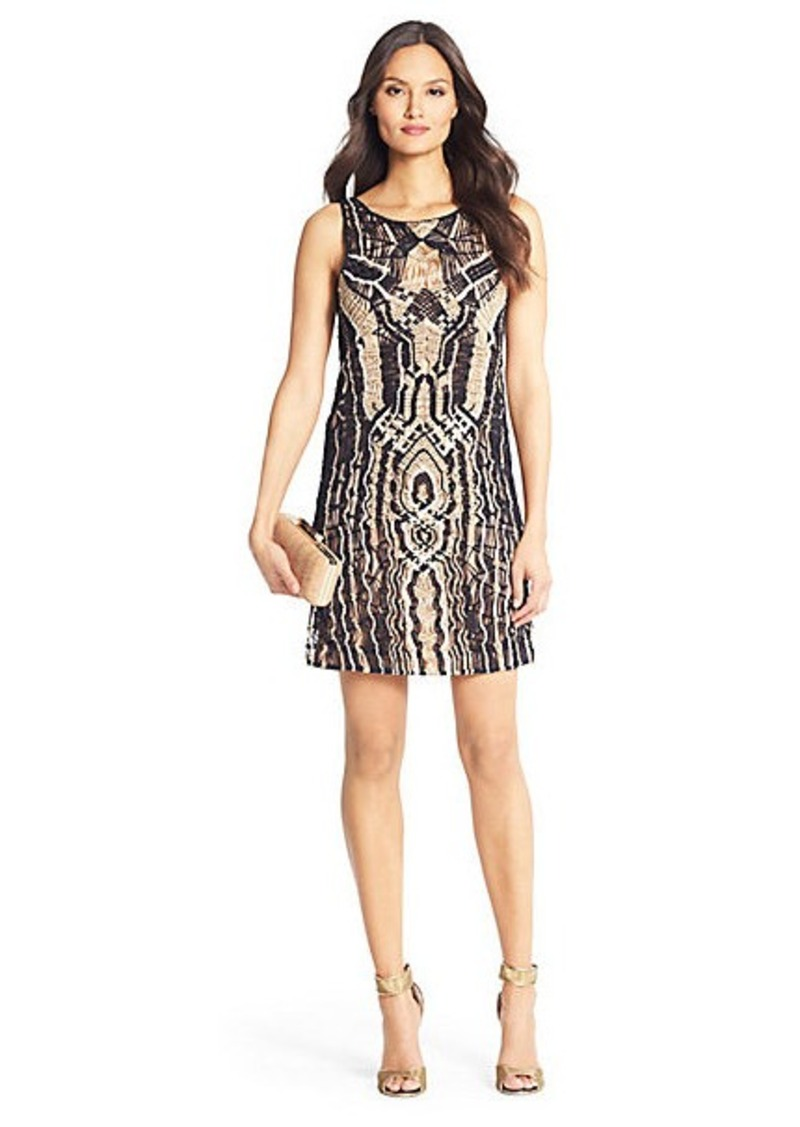 Diane Von Furstenberg Neapoli Metallic Crochet Dress