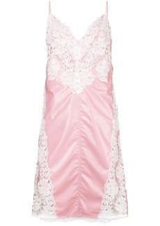 Calvin Klein lace panel slip dress