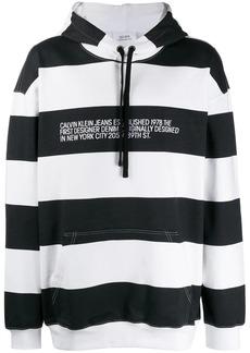 Calvin Klein striped logo hoodie