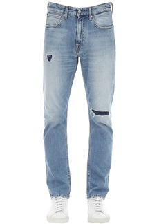 Calvin Klein 17.5cm Distressed Cotton Denim Jeans