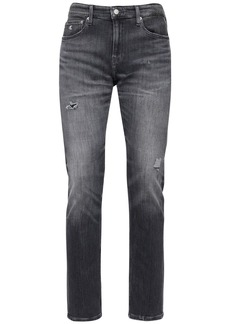 Calvin Klein 17cm Destroyed Slim Cotton Denim Jeans