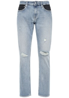 Calvin Klein 17cm Slim Fit Two Tone Coated Jeans
