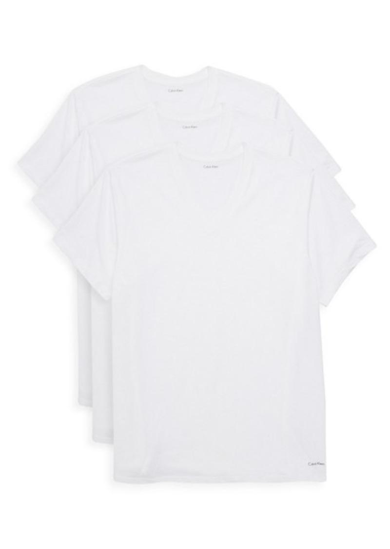 Calvin Klein 3-Pack Crewneck Cotton Tee