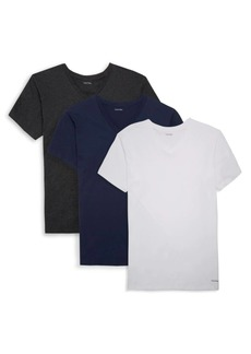 Calvin Klein 3-Pack V-Neck Cotton Tees
