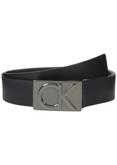 Calvin Klein 38mm Belt w/ CK Logo Plaque Buckle