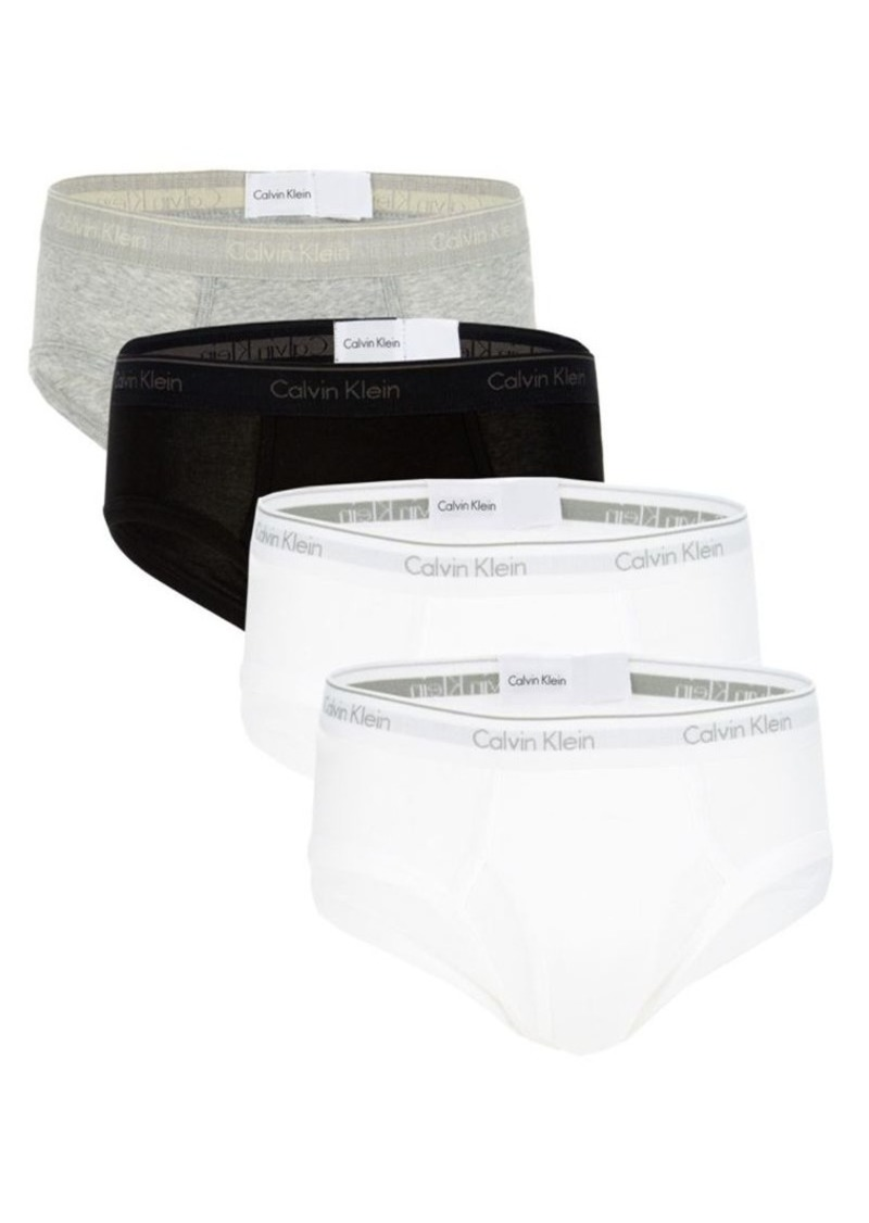 Calvin Klein 4-Pack Low-Rise Cotton Briefs