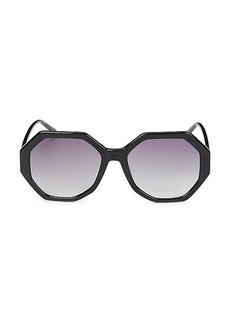 Calvin Klein 55MM Octagonal Sunglasses