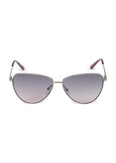Calvin Klein 58MM Triangle Sunglasses