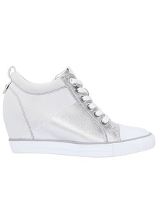 Calvin Klein 70mm Rory Metallic Canvas Wedge Sneakers